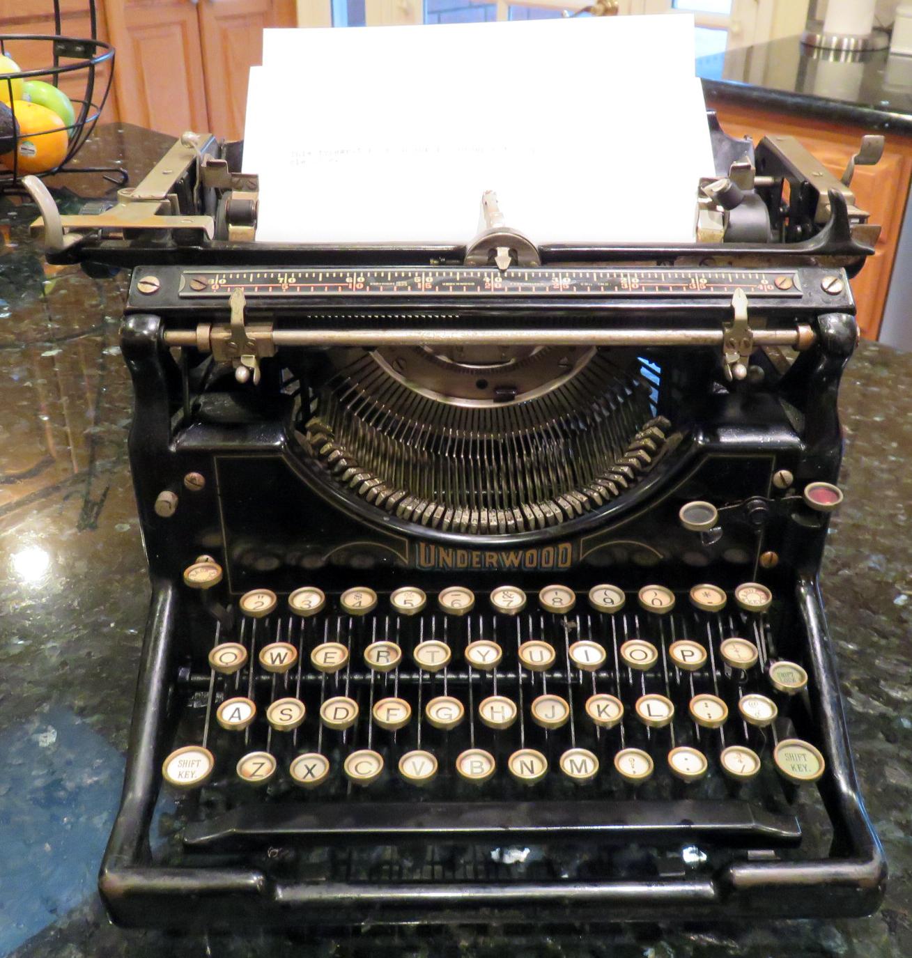 Underwood Typewriter 1925